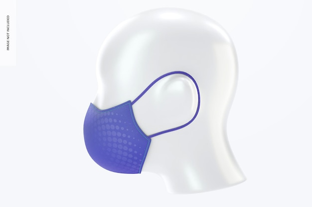 Maschera viso con elastici mockup