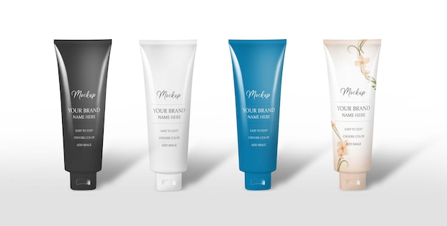 Face wash tube mockup
