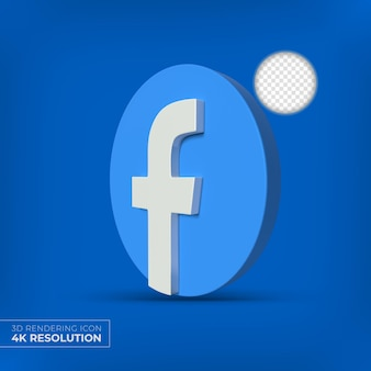 Facebook 3d apps logo isolated