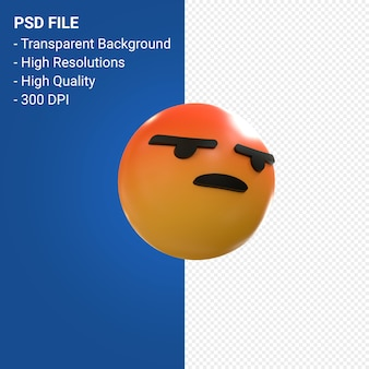 Facebook 3d emoji reactions like isolated