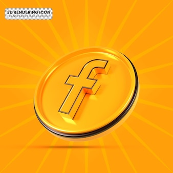 Facebook 3d rendering icon png