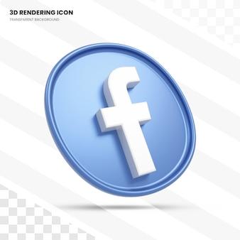Значок facebook 3d рендеринга