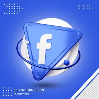 Значок приложения facebook 3d-рендеринга