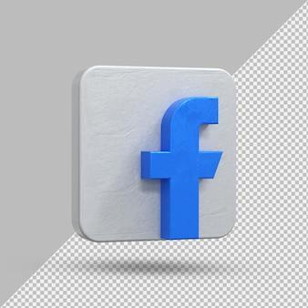Логотип приложения facebook на 3d-рендеринге