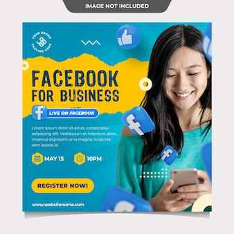 Facebook for business social media template