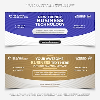 Facebook corporate for business timeline cover banner