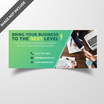 Facebook corporate timeline cover banner