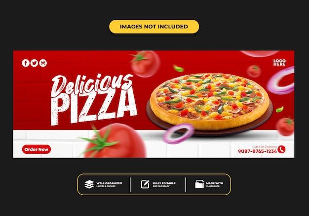 레스토랑 패스트 푸드 메뉴 피자 페이스 북 커버 포스트 배너 템플릿