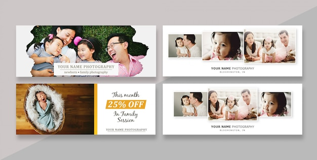 Facebook cover template banner for photographers