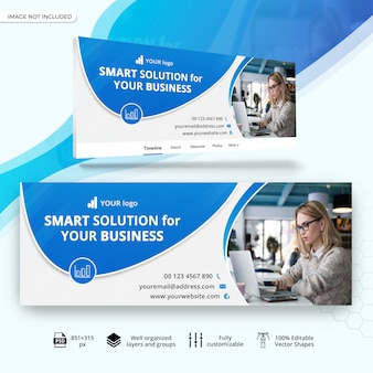 Facebook cover template for business