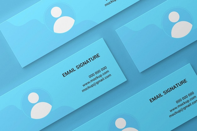 Facebook cover or web banner or email signature mockup