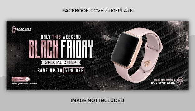 Facebook cover and web banner template for sale and black friday