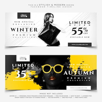 Facebook fashion sale cover banners