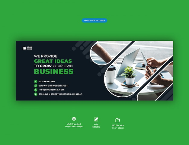 Facebook header banner template corporate business promotion