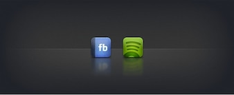 Facebook icons spotify