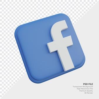 고립 된 둥근 모서리 사각형에 페이스 북 아이소 메트릭 3d 스타일 로고 개념 아이콘