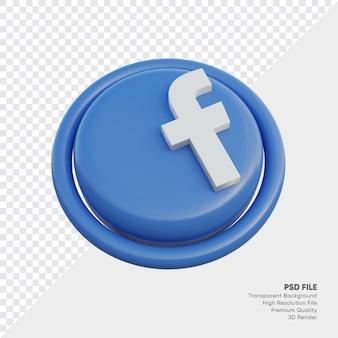 고립 된 라운드에서 페이스 북 아이소메트릭 3d 스타일 로고 개념 아이콘
