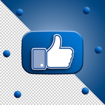 Facebook like 3d rendering isolated