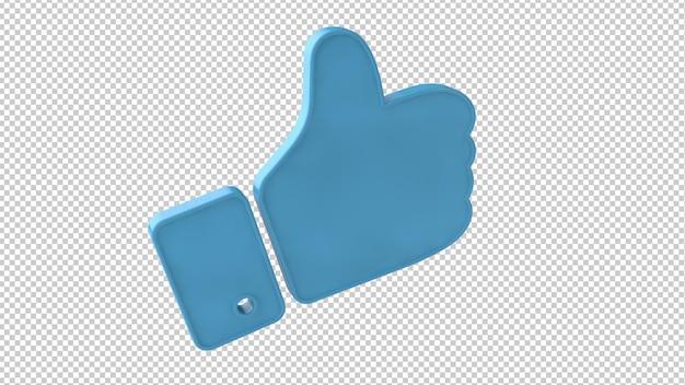 Facebook like symbol 3d rendering