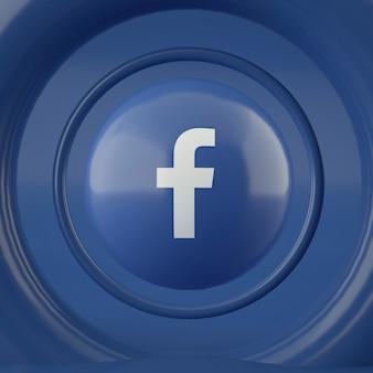 Логотип facebook на сфере
