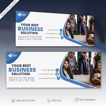 Facebook page cover banner template