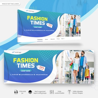 Facebook sale cover banner template