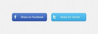 Facebook share social buttons twitter