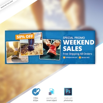 Facebook Weekend Sale Timeline Cover Banner