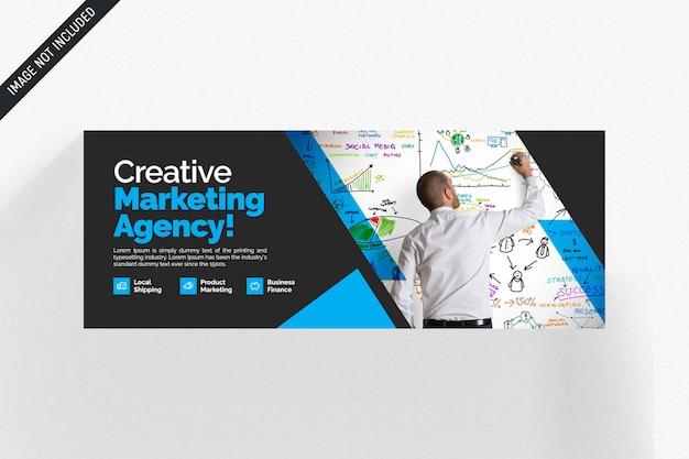 Креативный маркетинг шаблон обложки facebook