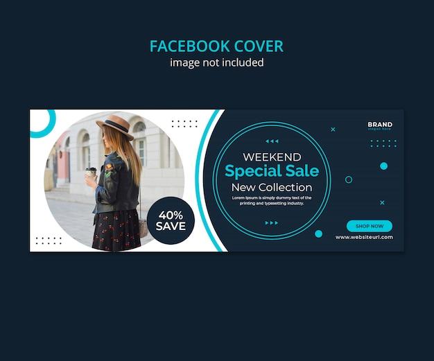 ファッション販売ソーシャルメディアのfacebookカバー。