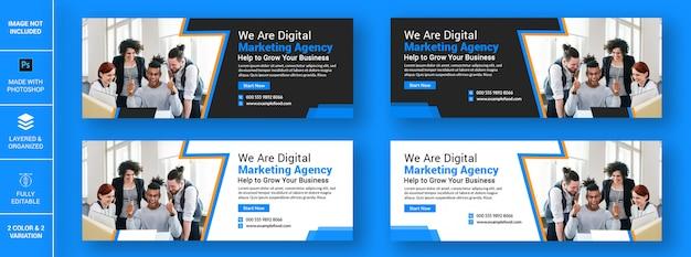 Цифровое маркетинговое агентство бизнес facebook дизайн баннера