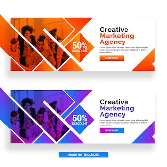 Креативное маркетинговое агентство facebook баннер