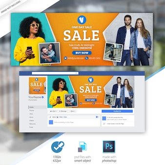 セールバナーfacebookタイムラインカバー