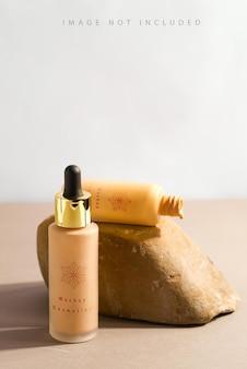 Стеклянные кремовые бутылки для основы для лица