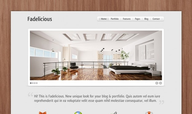 Fadelicious (bedroom) homepage psd
