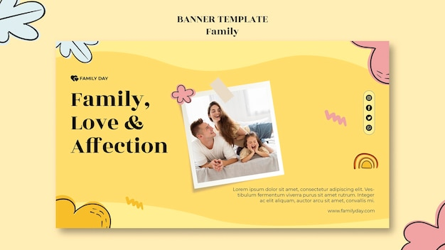 Family day banner template
