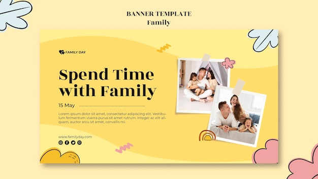 Family day banner template Premium Psd