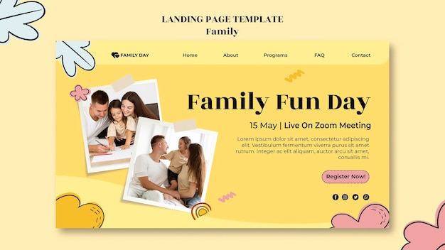Family day landing page