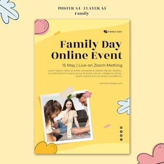 家族の日のポスターテンプレート