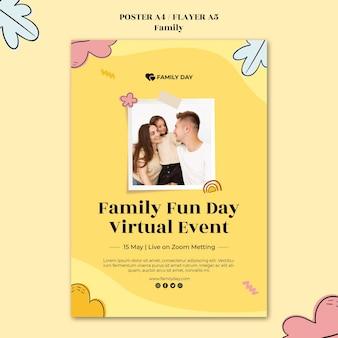 Шаблон плаката к семейному дню