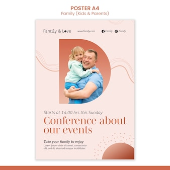 Family design poster template