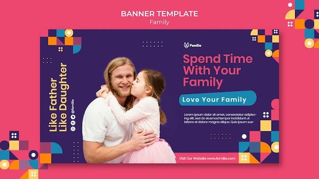 Modello di banner ispirato alla famiglia