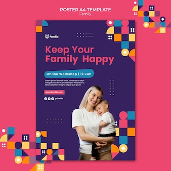 Family inspired poster template