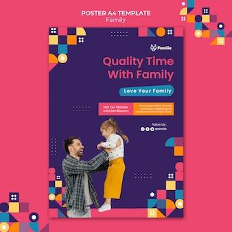 Modello di poster ispirato alla famiglia