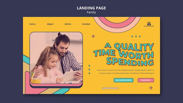 가족 방문 페이지 디자인 서식 파일