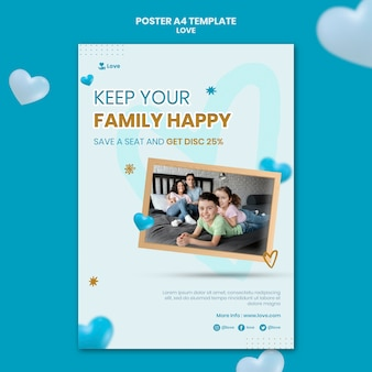 가족 사랑 포스터 템플릿