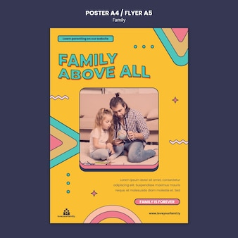 Modello di progettazione di poster di famiglia
