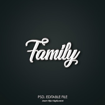 Family text effect style
