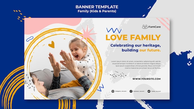 Family time banner template