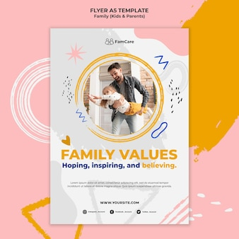 Family time flyer template